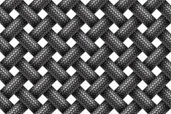 Vector безшовная картина сплетенных шнуров заплетенных тканью Стоковые Фото