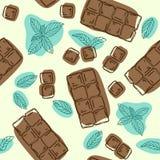 Vector безшовная картина с вкусом шоколада и мяты еда вареников предпосылки много мясо очень иллюстратор иллюстрации руки чертежа иллюстрация вектора