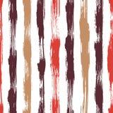 Vector безшовная картина с нашивками и ходами щетки Красный розовый цвет на белой предпосылке Покрашенная рукой текстура усадьбы иллюстрация штока