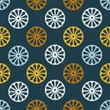 Vector безшовная картина с простой мандалой в ретро цветах Стоковые Изображения RF