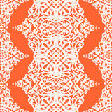 Vector безшовная картина с свирлями и флористическими мотивами в ретро стиле. Стоковое фото RF