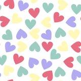 Vector безшовная картина с сердцами Стоковое Фото