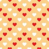 Vector безшовная картина с сердцами Стоковые Фото