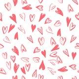 Vector безшовная картина с сердцами Handmade ART бесплатная иллюстрация