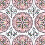 Vector безшовная картина с этническими стрелками, пер и племенными орнаментами Boho и предпосылка hippie Американское индийское m Стоковое Изображение RF