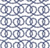 Vector безшовная картина цепей в плоском стиле Стоковые Фото