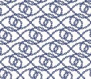 Vector безшовная картина цепей в плоском стиле Стоковые Фотографии RF