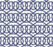 Vector безшовная картина цепей в плоском стиле Стоковое Фото