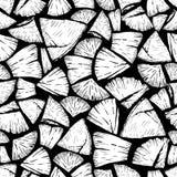 Vector безшовная картина firewoods изолированных на черной предпосылке Собрание печати Lumberjack Стоковая Фотография RF