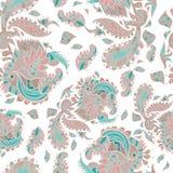 Vector безшовная текстура с абстрактными цветками на a Стоковое Изображение