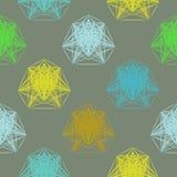 Геометрические цветы картины весной иллюстрация вектора