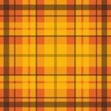 Vector безшовная шотландская картина в апельсине, чернота тартана, красный цвет, желтый цвет Великобританский или ирландский кель Стоковые Фото