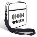 Vector белая сумка для ваших логотипов, дизайн, товарный знак изолированных на белизне бесплатная иллюстрация
