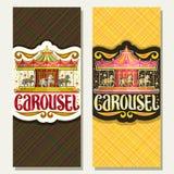 Vector вертикальные знамена для Carousel ` s детей Стоковые Фото