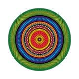 Vector взрослая покрашенная звезда мандалы картины книжка-раскраски - геометрические формы Стоковое Изображение