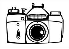 Vector винтажная камера фото фильма изолированная на белизне Стоковая Фотография RF