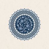 Vector винтажная предпосылка с круглой арабеской с флористическим орнаментом дизайн для печати, крышек, внутренних Стоковое фото RF
