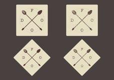 Vector вилка и ложка †знака еды «пересеченные иллюстрация вектора