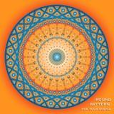 Vector вокруг картины с текстом в оранжевом и голубом Стоковая Фотография