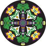 Vector восточная традиционная картина циркуляра рыбки цветка лотоса Стоковые Фото