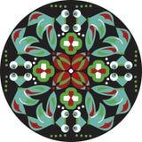Vector восточная традиционная картина циркуляра рыбки цветка лотоса Стоковое Изображение