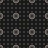Vector геометрическая безшовная картина с линейными вогнутыми квадратами иллюстрация штока