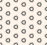Vector геометрическая безшовная картина с полыми формами диаманта, угловыми шестиугольными диаграммами иллюстрация вектора