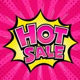 Vector горячая звезда желтого цвета сообщения пинка знамени продажи и розовый шаблон иллюстрация штока