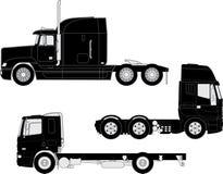 Перевезите силуэты на грузовиках иллюстрация штока