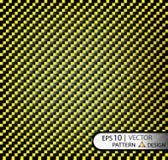 Vector желтый цвет волокна углерода картины безшовный под маской для продукции фильма с текстурой Стоковые Изображения RF