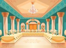 Vector зала для банкета, интерьера бального зала бесплатная иллюстрация