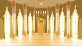 Vector зала замка, интерьер королевского бального зала иллюстрация вектора