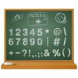 Vector знаки написанные рукой схематичные дальше для ваших польз иллюстрация штока