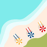 Vector знамя с пляжем ландшафта Стоковое фото RF
