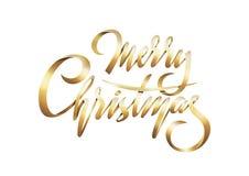 Vector золотой текст с Рождеством Христовым, счастливый Новый Год 2019 на белой предпосылке бесплатная иллюстрация