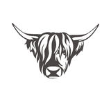 Vector изображение знака коровы для магазина мясников Стоковые Изображения RF