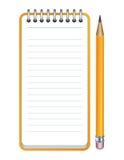 Vector икона карандаша и блокнота Стоковое Фото