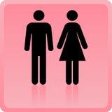 Vector икона человека & женщины иллюстрация штока