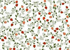 Vector иллюстрация еврейского праздника, Нового Года деревьев для Tu Bishvat Дерево с гранатовым деревом приносить, ветви, свирли Стоковые Фотографии RF