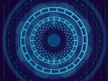 Vector иллюстрация конспекта, светлой концепции технологии круга Монтажная плата, высокая предпосылка цвета компьютера иллюстрация штока