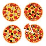 Vector иллюстрация пиццы к украшениям, знаменам, вебсайтам иллюстрация штока