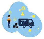 Vector иллюстрация, плоский стиль, различные магазины, скидки, приобретение товаров и подарки, концепция покупок и бесплатная иллюстрация