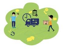 Vector иллюстрация, плоский стиль, различные магазины, скидки, приобретение товаров и подарки, концепция приобретения и голодайте иллюстрация вектора