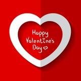 Vector иллюстрация сердца на день ` s валентинки Стоковая Фотография RF