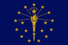 Vector иллюстрация флага положения Индианы, перекрестков Америки Стоковые Фотографии RF