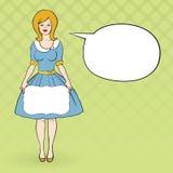 Vector иллюстрация dressd женщины как 50's Стоковые Изображения RF