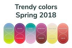 Vector иллюстрация, infographics, ультрамодные цвета, весна 2018 Стоковое фото RF