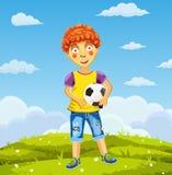 Vector искусство иллюстрации мальчика в рубашке и играть краткости Стоковое Фото