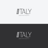 Vector идея проекта Италии алфавита с плоским значком знака Стоковые Фотографии RF