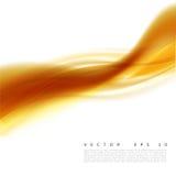 Vector иллюстрация абстрактной оранжевой волнистой предпосылки, ровная наслоенная волна желт-апельсина, линия с световым эффектом Стоковые Изображения